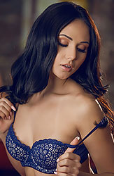 Ariana Marie Seductively Strips Off Her Lingerie and Orgasms